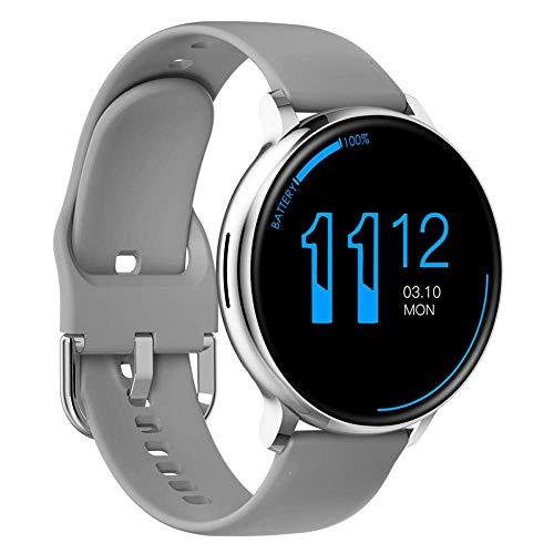 Reloj inteligente de llamada inalámbrica, rastreador de ejercicios con pantalla táctil de silicona de 1.3 pulgadas, pulsera inteligente de monitoreo del sueño con dial de bricolaje impermeable