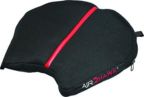 Airhawk Cojín de asiento negro para bicicleta deportiva, bicicleta deportiva, doble deporte, estándar y no Touring Harey-Davidson modelos 11' L x 11' W FA-CRUISER-RSM