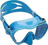 Cressi F1 Mask Máscara Monocristal Tecnología Frameless, Unisex, Azul, L