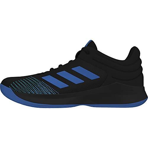 adidas Pro Spark Low 2018, Zapatos de Baloncesto Hombre, Negro (Cblack/Brblue/Cblack Cblack/Brblue/Cblack), 44 EU