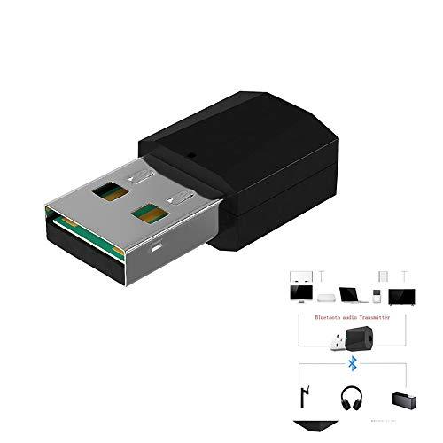Lanceasy Mini USB Bluetooth 4.2 Adaptador USB Bluetooth 4.2 Adaptador transmisor de Audio estéreo para la TV Altavoz de la PC del Auricular