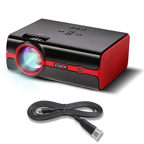 "Projector Paick 3200 Lumens Video Proejctor Support 1080P, 180"" Big Screen for Home Cinema, Movies, TV, USB/HDMI/AV/VGA"