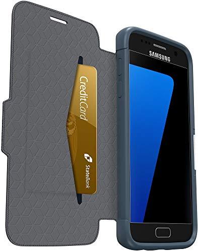 Otterbox Strada - Funda de protección Formato Folio para Samsung Galaxy S7, diseño Cannonball Blue, en Piel Color Azul Marino
