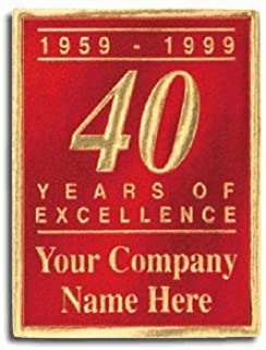 EGP Personalized Anniversary Seals, Roll of 500, 1 1/2 x 1 3/4
