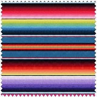1 Yard Fiesta Stripe by Elizabeth's Studio 100% Cotton Quilt Fabric 263 Blue