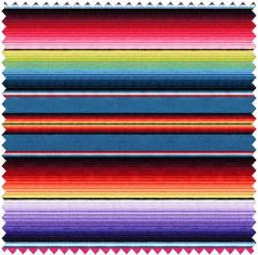 1 Yard Fiesta Stripe by Elizabeth's Studio 100% Cotton Quilt Fabric 263 Blue