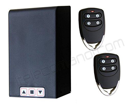 Hiland - Kit universal de control con mando a distancia para persianas y toldos TM5811. Funciona con cualquier motor de hasta 1 hp (caballo de fuerza). Receptor y mandos incluidos. Posibilidad de conectar fotocélulas o luces intermitentes