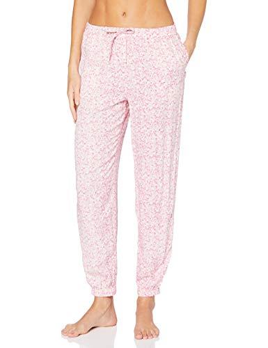 Calvin Klein Jogger Pantalones de Pijama, Rosa (Swish Print SWC), L para Mujer
