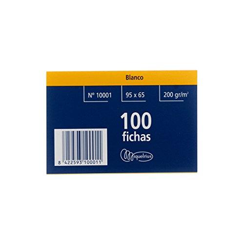 Miquel Rius Número 1 - Fichas lisas, 100 unidades, 65 x 95 mm