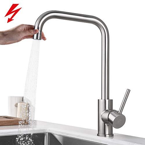 Homelody Küchenarmatur Niederdruck Armatur für Boiler Küche Wasserhahn Spültischarmatur Mischbatterie Spülbecken Küchenspüle Einhebelmischer Spültischbatterie