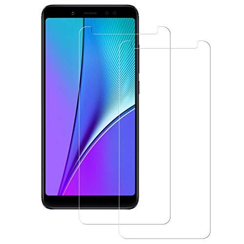 POOPHUNS Cristal Templado Xiaomi Redmi Note 5,[2-Unidades] Protector de Pantalla para Xiaomi Redmi Note 5 [Alta Definicion, 9H Dureza, Resistente a Arañazos]