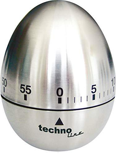 Technoline KZW II Analog Kurzzeitwecker Ei, Metall