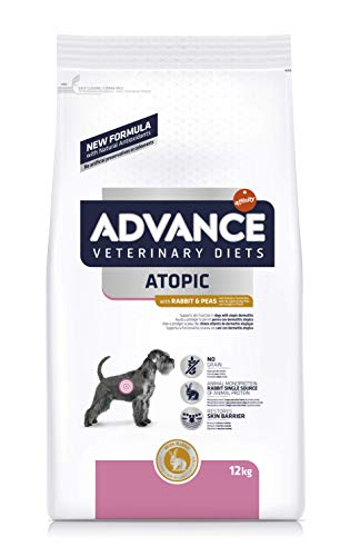 ADVANCE Veterinary Diets Atopic Care Medium/Maxi - Pienso Para Perros Adultos Con Problemas Atópicos De Razas Medianas y Grandes Con Conejo - 12 kg