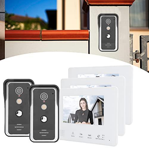 CUTULAMO Videoportero, Rama de Sistema de 2 Cables y Monitor de cámara de Puerta con intercomunicador Manos Libres bidireccional de Modo Mixto para Seguridad en el hogar
