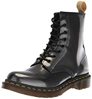High-shine, vegan-friendly Chrome Paint Metallic synthetic upper with glossy finish Breathable textile and synthetic lining for comfortable wear Removable, padded insole for cushioning and support Goodyear welt construction for durability Oil, fat, a...