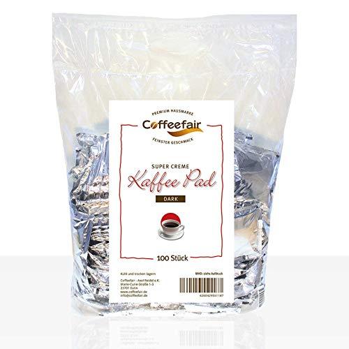 Coffeefair Kaffee-Pads Supercreme Dark Roast 100 Stück | Megabeutel
