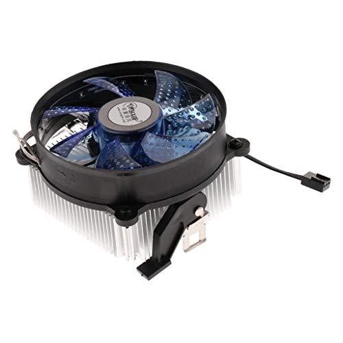 IPOTCH Disipador de Calor de La Fan del Refrigerador de Aluminio de La CPU del Ordenador 2000RPM Los 9cm para AMD - Azul