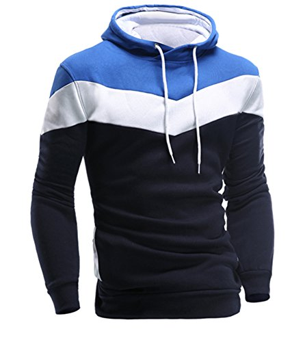 Benibos Mens Eco Fleece Pullover Hoodie (US size S / Label size L, Navy blue)