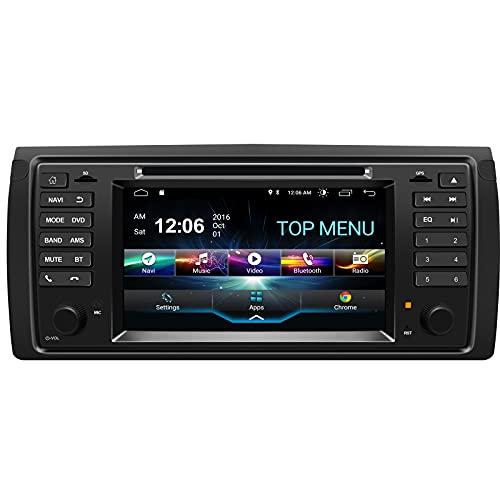 SWTNVIN Android 10.0 Unidad de Audio estéreo para Coche Compatible con BMW 5er E39 / BMW X5 E53 / BMW M5 / BMW 7er E38 Reproductor de DVD Radio de 7' Pantalla táctil HD navegación GPS de 2GB+32GB