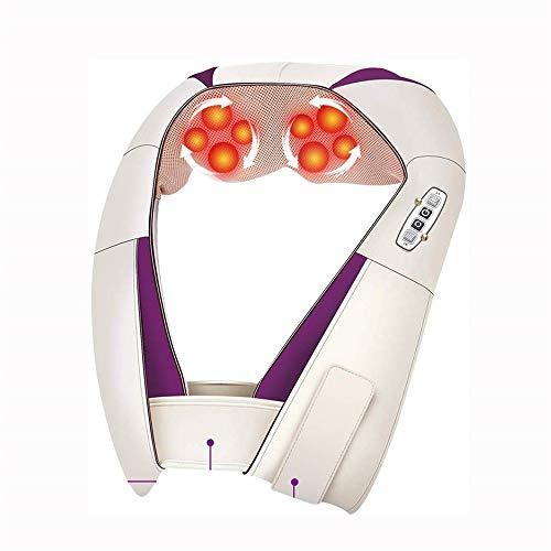 MEETKE Body Shoulder Neck Massager U Shape Adjustable Electric Shiatsu Back Infrared 4D Knead Massage Car Home Best Gift Health Care