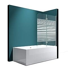 120x140 cm Badewannenaufsatz Duschwand 180