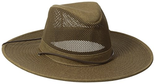 Henschel Crushable Soft Mesh Aussie Breezer Hat, Earth, Large