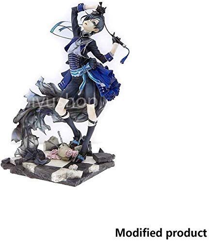 FULONG Black Butler: Book of Murder Ciel Phantomhive PVC Figure with Stand Anime Figurine Toy High 22CM(8.6Inches)