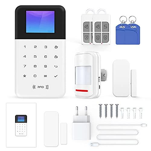 XIEJ Tuya WiFi Smart Alarm Host Wireless gsm + WiFi Sistema di Allarme antifurto Tuya App Remote Control Rete di distribuzione a Una Chiave per Alexa Google Assistant