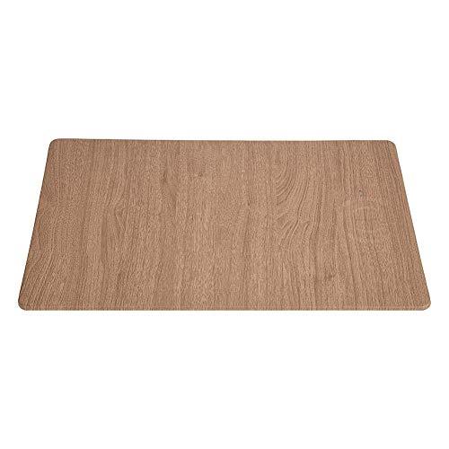 Alfombrilla para ratón Alfombrilla para ratón de escritorio Alfombrilla para ratón con textura premium Borde cosido Base de goma antideslizante Alfombrilla para ratón (madera)