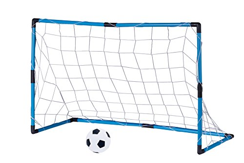 Edco - Porta con Rete E Pallone da Calcio, Pallone Ø 14 Cm, Porta 96 X 64 X 42 Cm