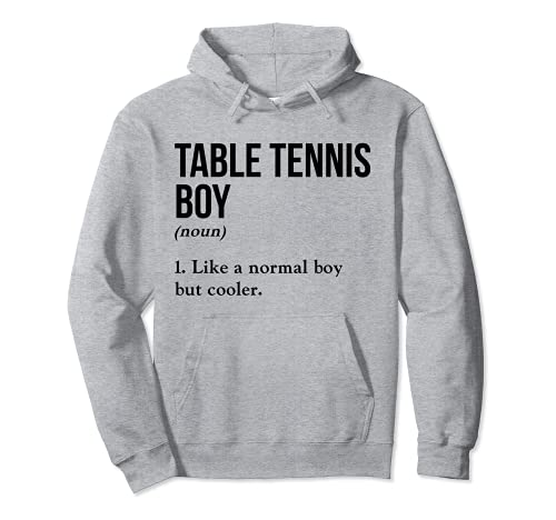 Tenis de mesa Boy Nombre Definición Pingpong Torneo Pelota Sudadera con Capucha