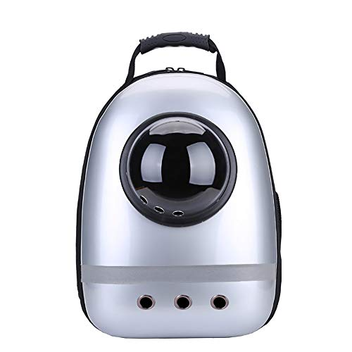 JIAOXM Zaino da Viaggio per Animali Domestici,Space Capsule Bubble Design, Zaino a Tracolla Soft-Sided per Cat e Small Dogs,E
