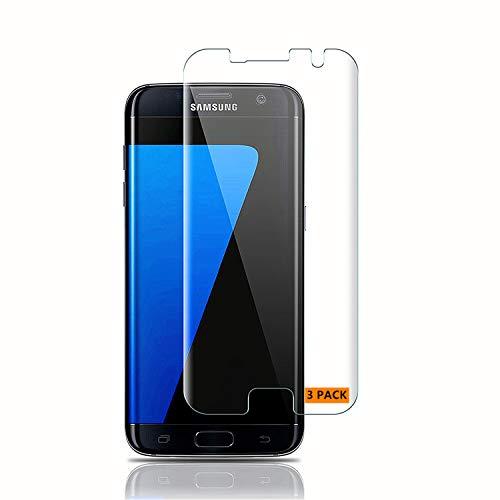 Haikingmoon Samsung S7 Edge Panzerglas Schutzfolie (3 Stück),Samsung S7 Edge Panzerfolie,9H 0.26MM HD Bildschirmschutz Panzerglasfolie Glasfolie für Samsung Galaxy S7 Edge