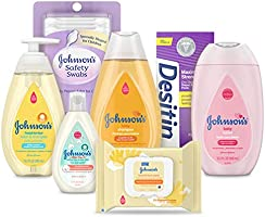 Johnson's Bath Discovery Gift Set for Parents-to-Be, Caddy with Baby Bath Time & Skin Care Essentials, Includes Baby...