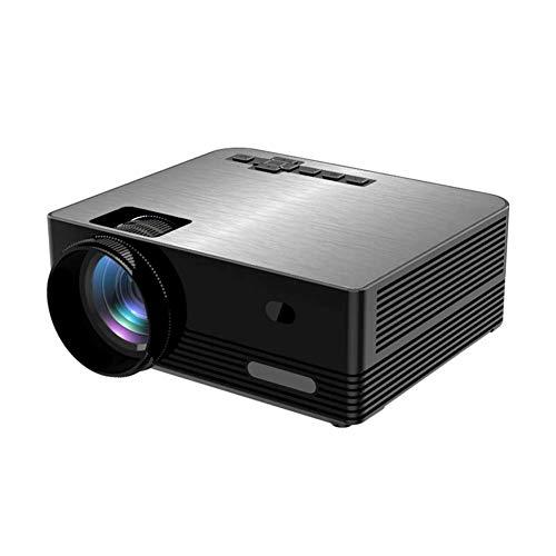 DBGS Mini-thuisbioscoop, Full HD 1080p videoprojector, LED, hifi-luidspreker, compatibel met USB, VGA, HDMI, TF-kaart, PC, tv-box, PS4