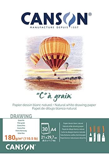 Canson C à grain 400060577 Papier à dessin Blanc Naturel