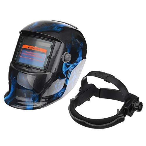 Welding Helmet Solar Powered Auto Darkening Hood with Adjustable Shade Range 4/9-13 for Mig Tig Arc Welder Mask