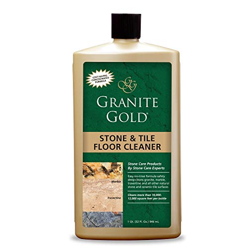 Granite Gold Stone and Tile Floor Cleaner Streak-Free No-Rinse Deep Cleaning for Granite, Marble, Travertine, Ceramic-Made in the USA, 32 Ounces