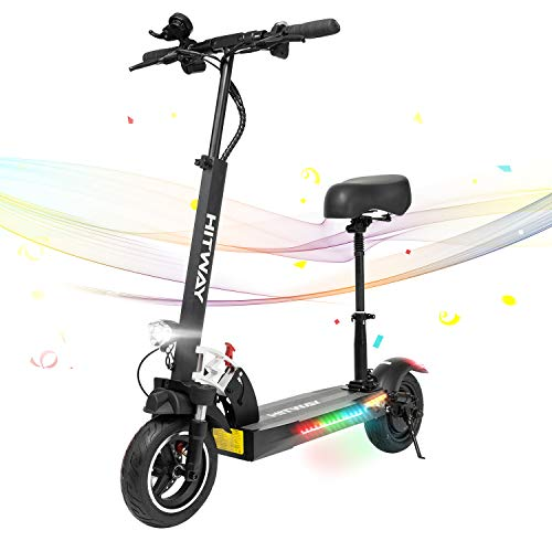 HITWAY Scooter eléctrico, and scooter, 800W, 45 km/h, 40 km, scooter eléctrico plegable con pantalla LCD batería de iones de litio de 10 ah, para adolescentes y adultos (Nerón02)