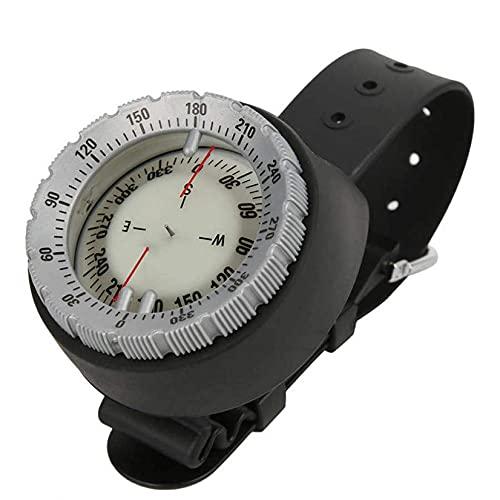 SHJMANPA Brújula Submarina Profesional 50 M Brújula De Buceo Navegador Impermeable Reloj Digital Brújula De Buceo para Senderismo Supervivencia, Grey