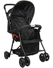 LuvLap Apollo Stroller/Pram, Easy Fold, for Newborn Baby/Kids, 0-3 Years (Black)