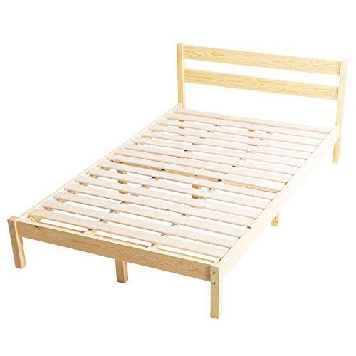 アイリスプラザ ベッド ベッドフレーム ダブル おしゃれ パイン材ベッドフレーム ナチュラル ダブルベッド PWBX-DNA