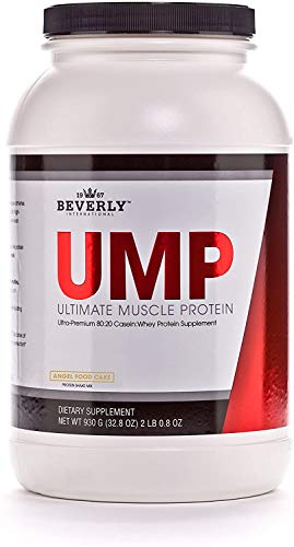 Beverly International UMP Protein Powder 30 Servings, Angel Food Cake. Unique whey-Casein Ratio Builds Lean Muscle and Burns Fat for Hours. Easy to Digest. No Bloat. (32.8 oz) 2lb .8 oz