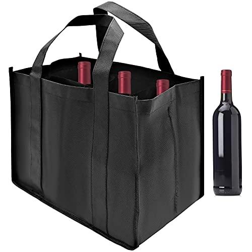 Bolsa Portabotellas, Bolsas de Fieltro para Botellas de 6 Botellas, Bottle-Bag Bolsa, Conveniente para Transportar y Llevar Botellas de Vino y Bebidas(1 Piezas)