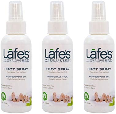 Lafe s Natural Body Care Peppermint Foot Spray Cools Eliminates Odors 3 Pack 4oz each product image