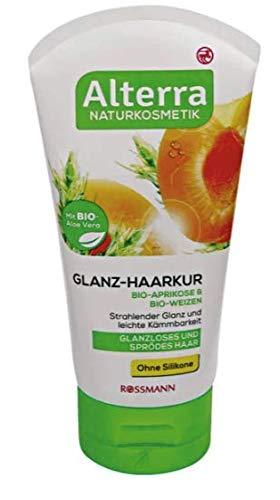 Glanz-Haarkur Bio-Aprikose & Bio-Weizen - Naturkosmetik - Für glanzloses und Sprödes Haar - 150 ml