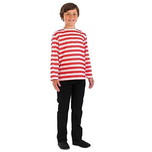 Fun Shack Rojo Jersey A Rayas Disfraz para Niños y Niñas