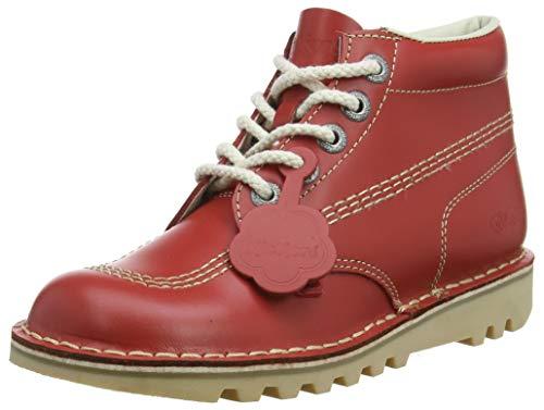 Kickers Kick Hi', Botines Mujer, Rojo (Red/Light Cream), 39 EU