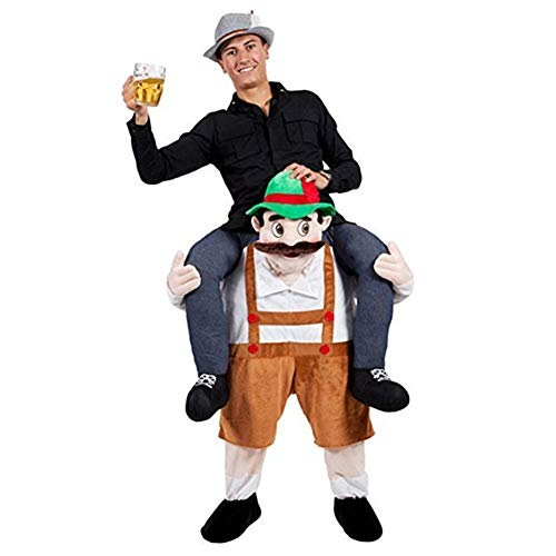 Halloween Carry Ride On Beer Guy Oktoberfest Mascot Costume