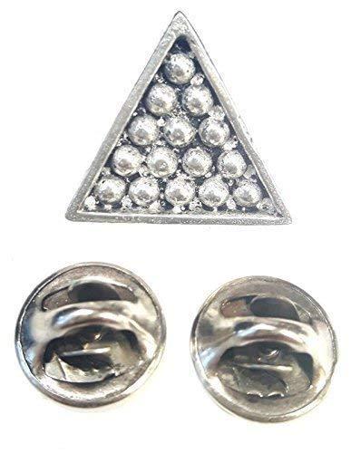 Queue de Billard Snooker Triangle fabriquéà la main en étain massif au Royaume-Uni Pin s (épinglette Badge + 59MM Bouton Badge + Sac cadeau